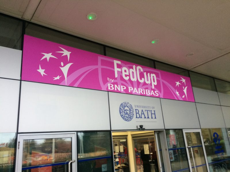 Backing the Brits in Bath – Fed Cup tennis returned to Britain