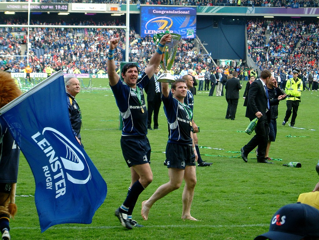 Leinster celebrate winning the 2009 European Rugby Champions Cup