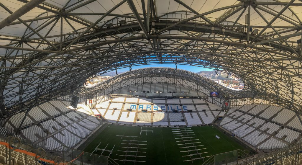The Stade Vélodrome in Marseille, France