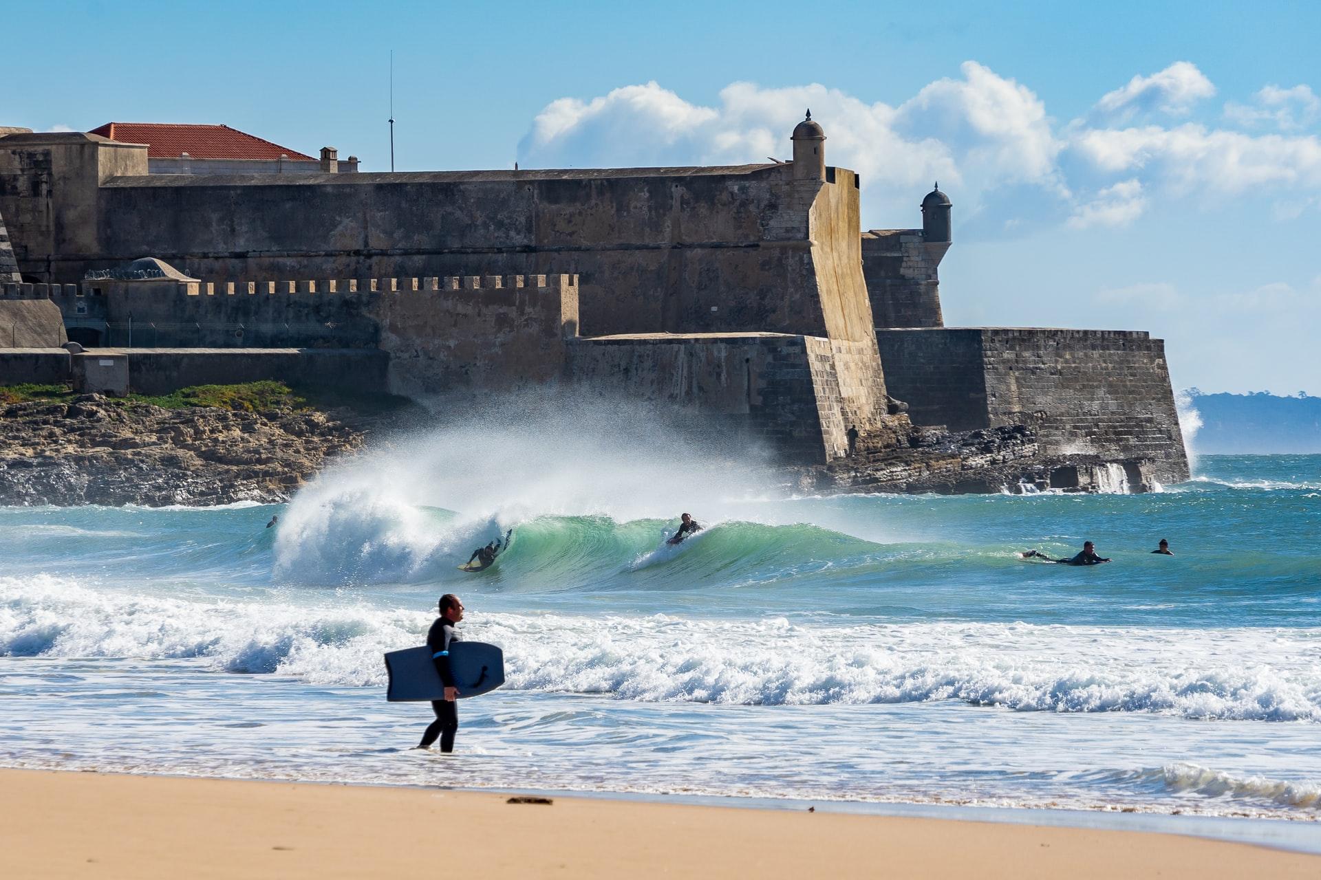 Carcavelos beach in Portugal