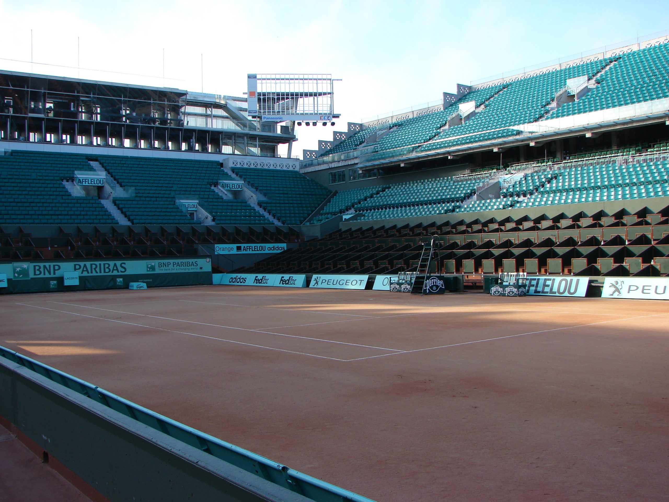 Court Philippe Chatrier at the Stade Roland-Garros, host of the French Open
